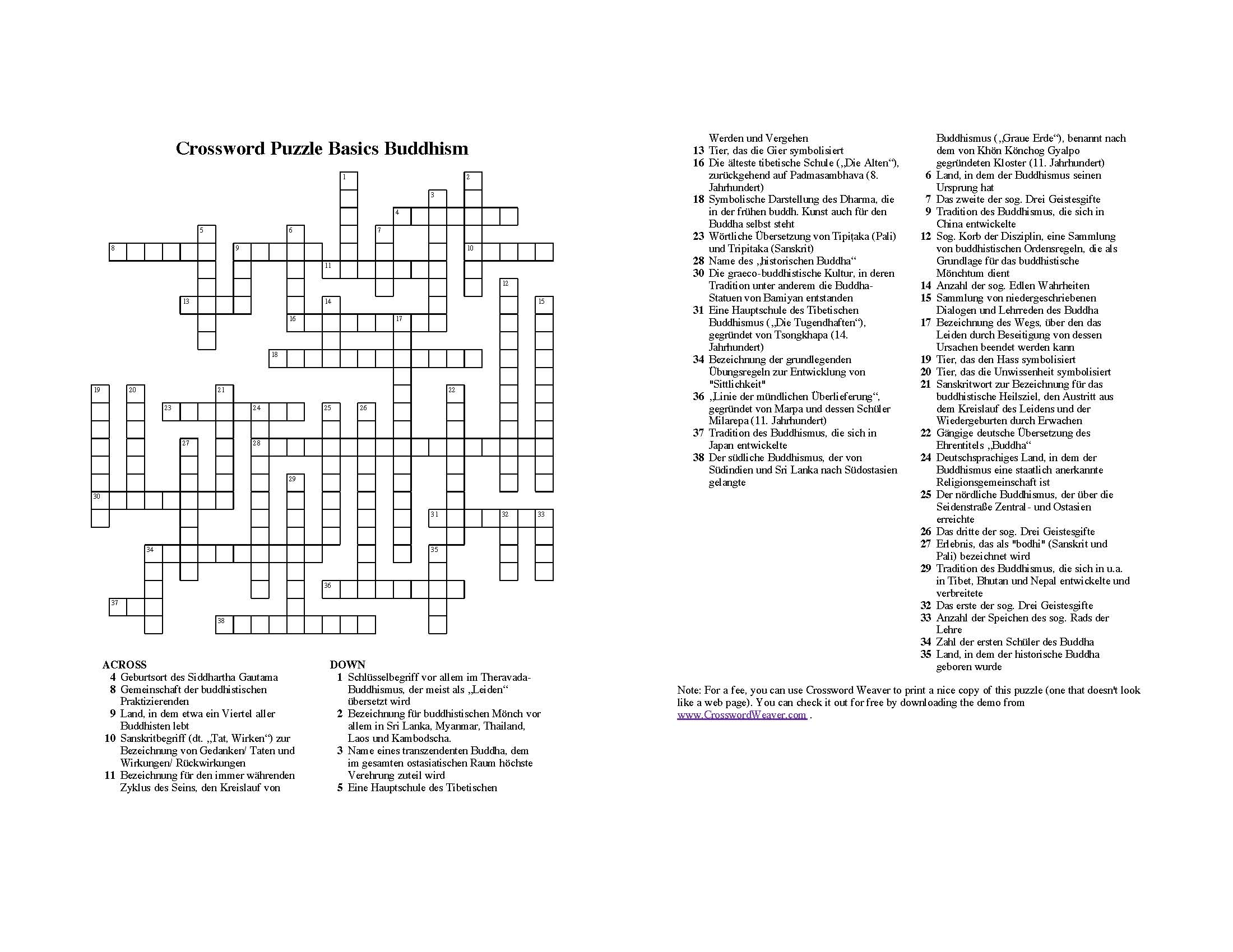 Winter Crossword - Viewing Gallery